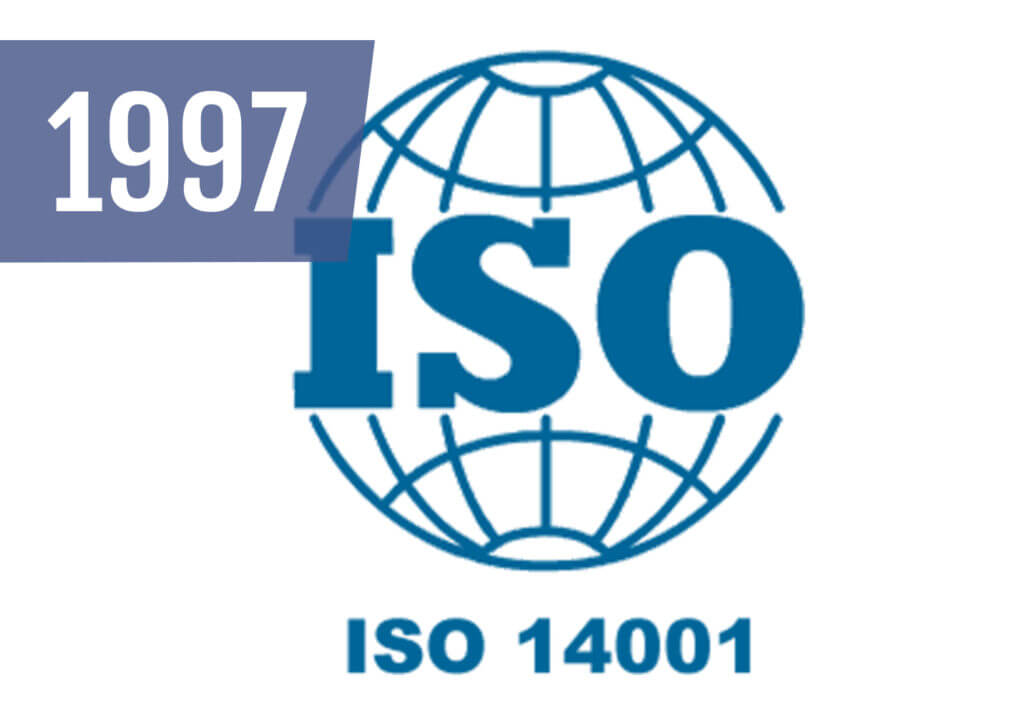 We were awarded the ISO14001 accreditation