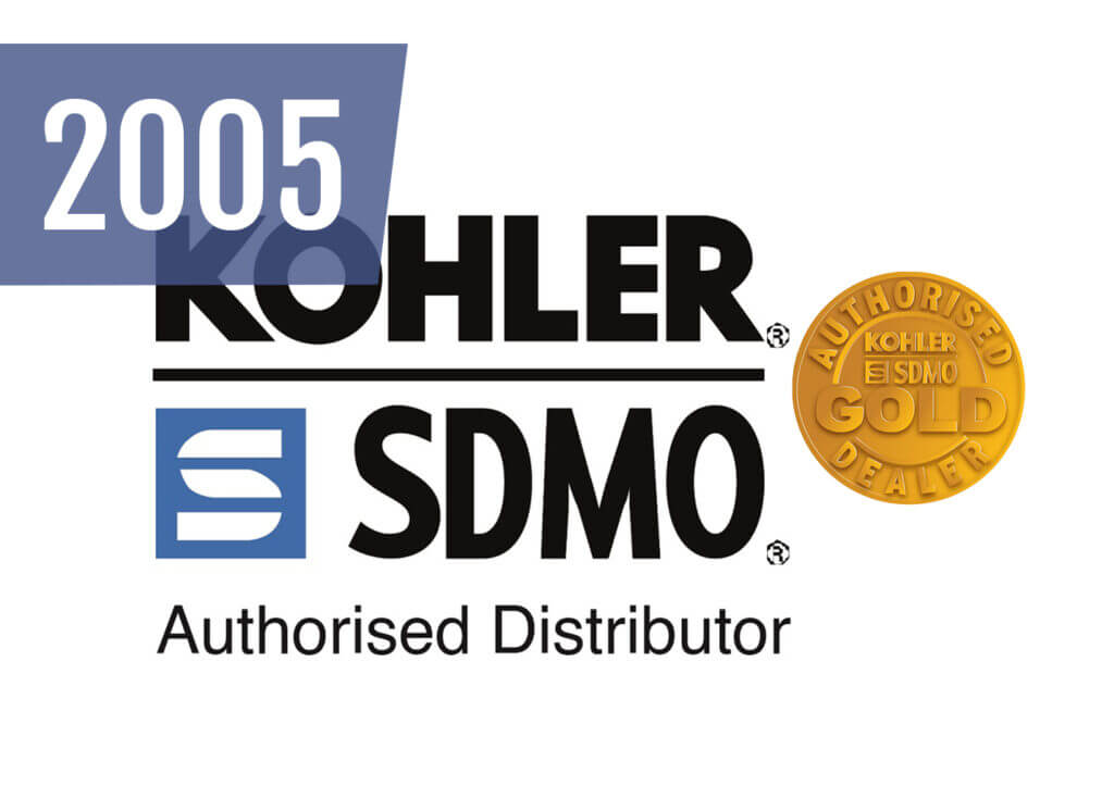 With SDMO being bought out by Kohler, we are awarded 'Gold' distributor status