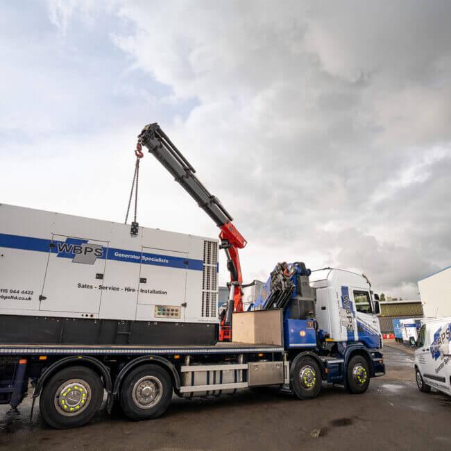 Hire Diesel Generator on Hiab Truck