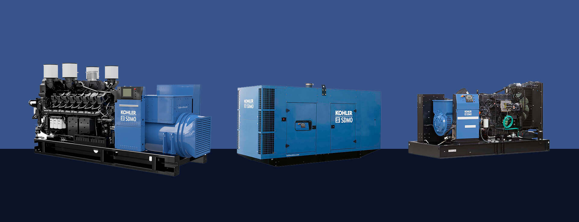 Three Kohler-SDMO Industrial Generators